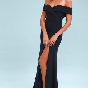 Lulus navy prom dress